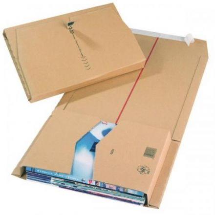 Book Wrap Mailing Boxes - Brown<br>Size: 380x285x80mm<br>Pack of 20